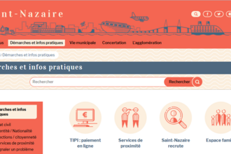 Capture du site de la ville