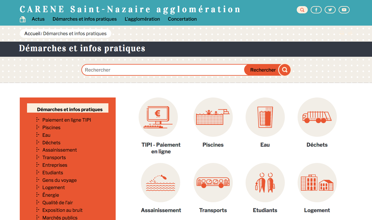 Site web www.agglo-carene.fr