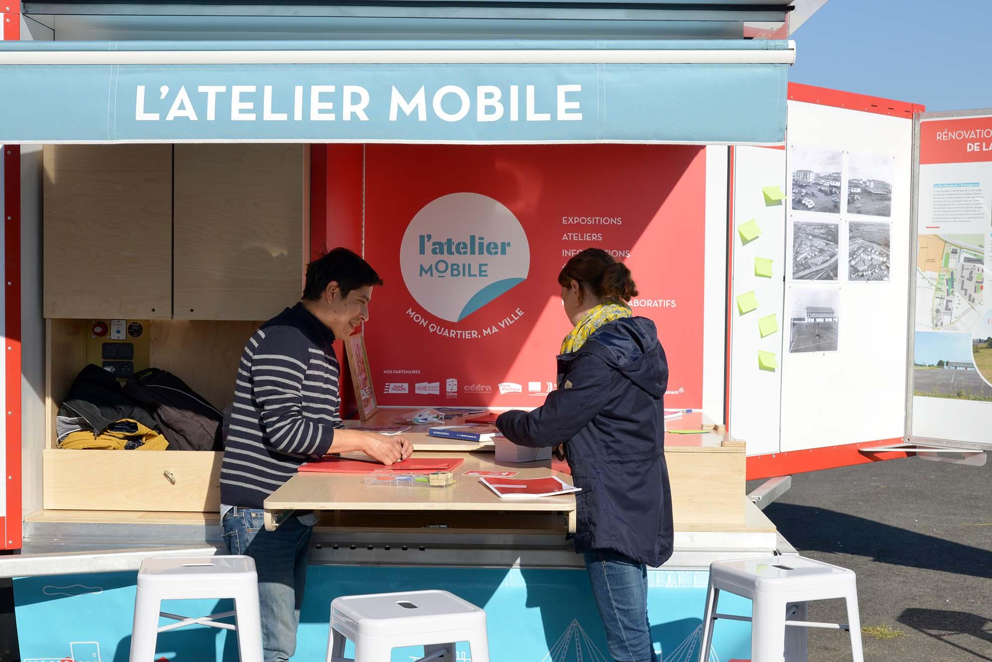 L'Atelier mobile de Saint-Nazaire. Crédit : Martin Launay Ville de Saint-Nazaire