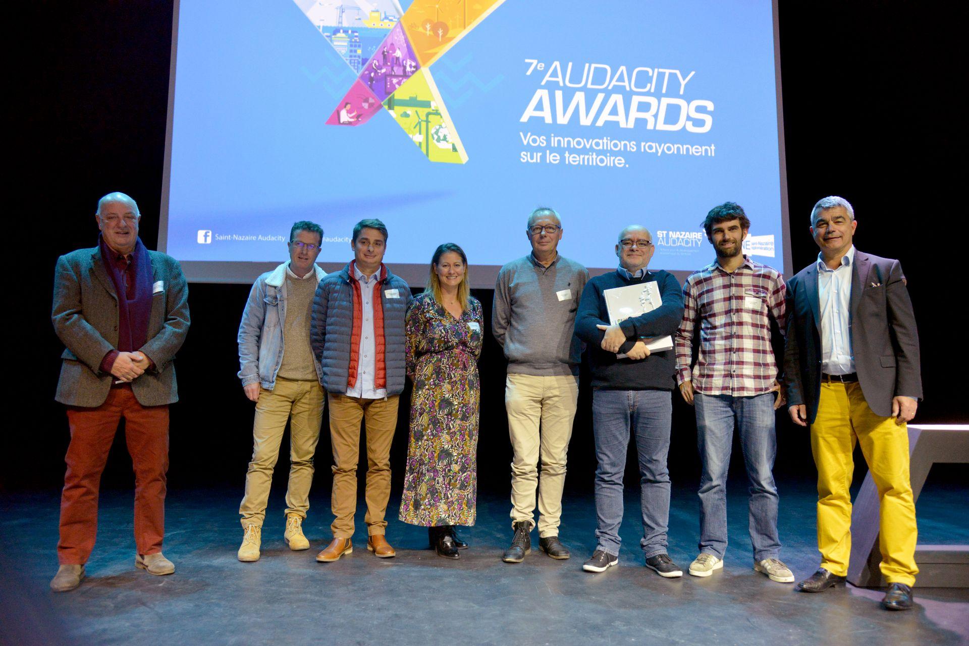 Les lauréats Audacity Awards 2018. Crédit : Christian Robert - Ville de Saint-Nazaire