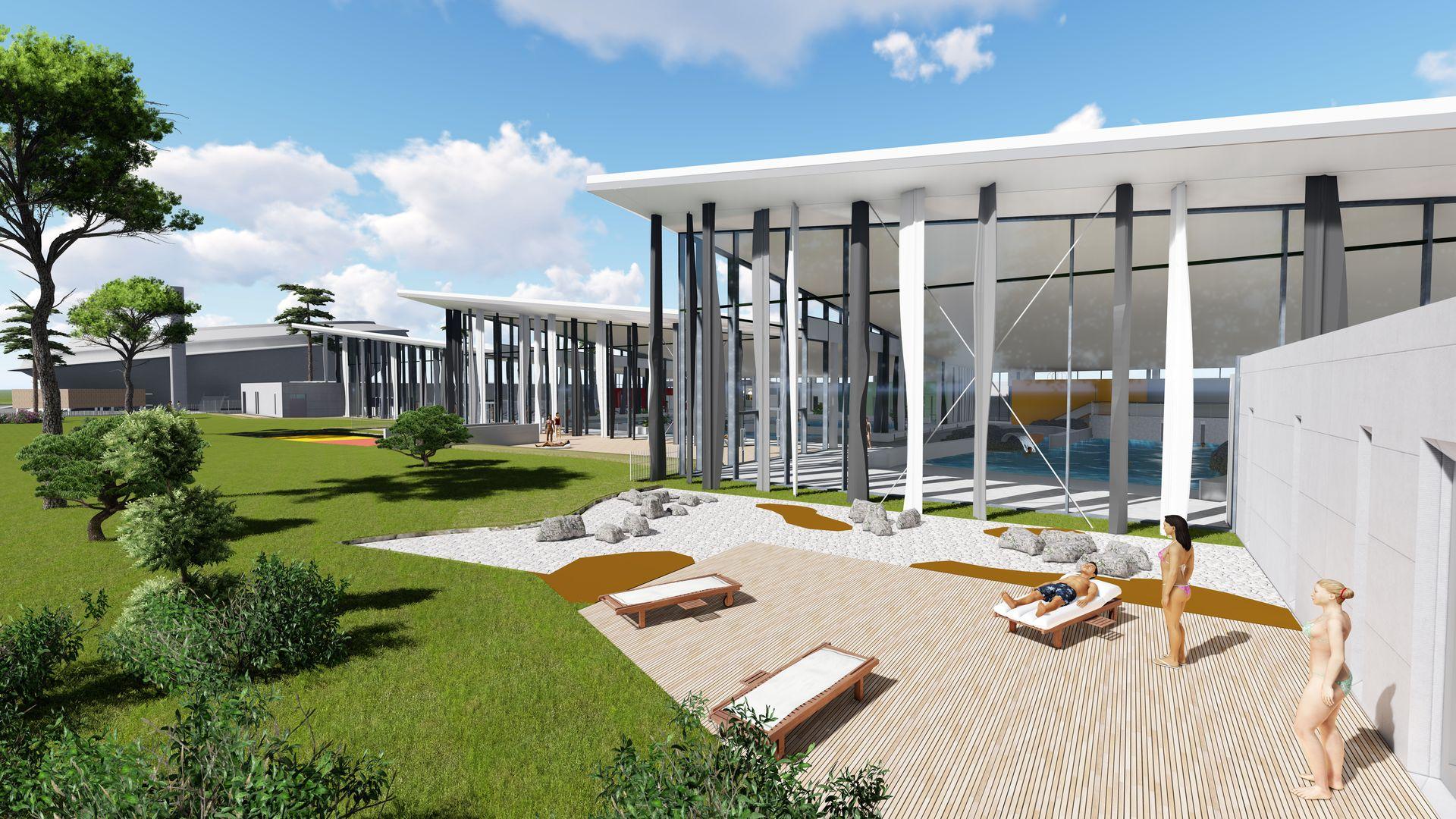 Aquaparc - Le centre aquatique de Saint-Nazaire (crédit / Agence Coste Architectes))