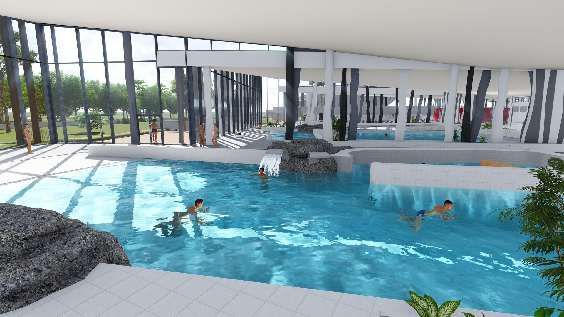 Aquaparc, centre aquatique de Saint-Nazaire (crédit : Coste Architectes)