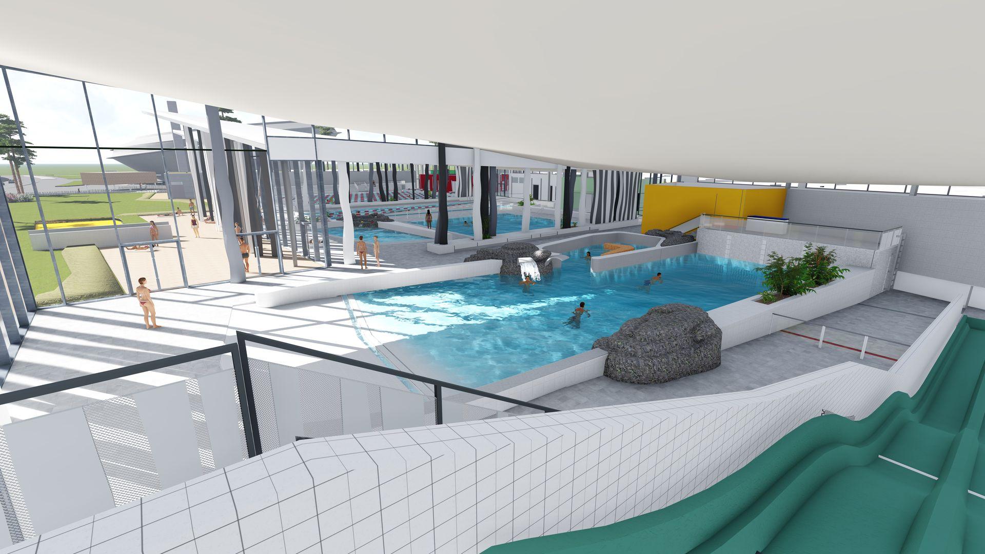 Aquaparc, centre aquatique de Saint-Nazaire (Crédits : Coste Architectes)