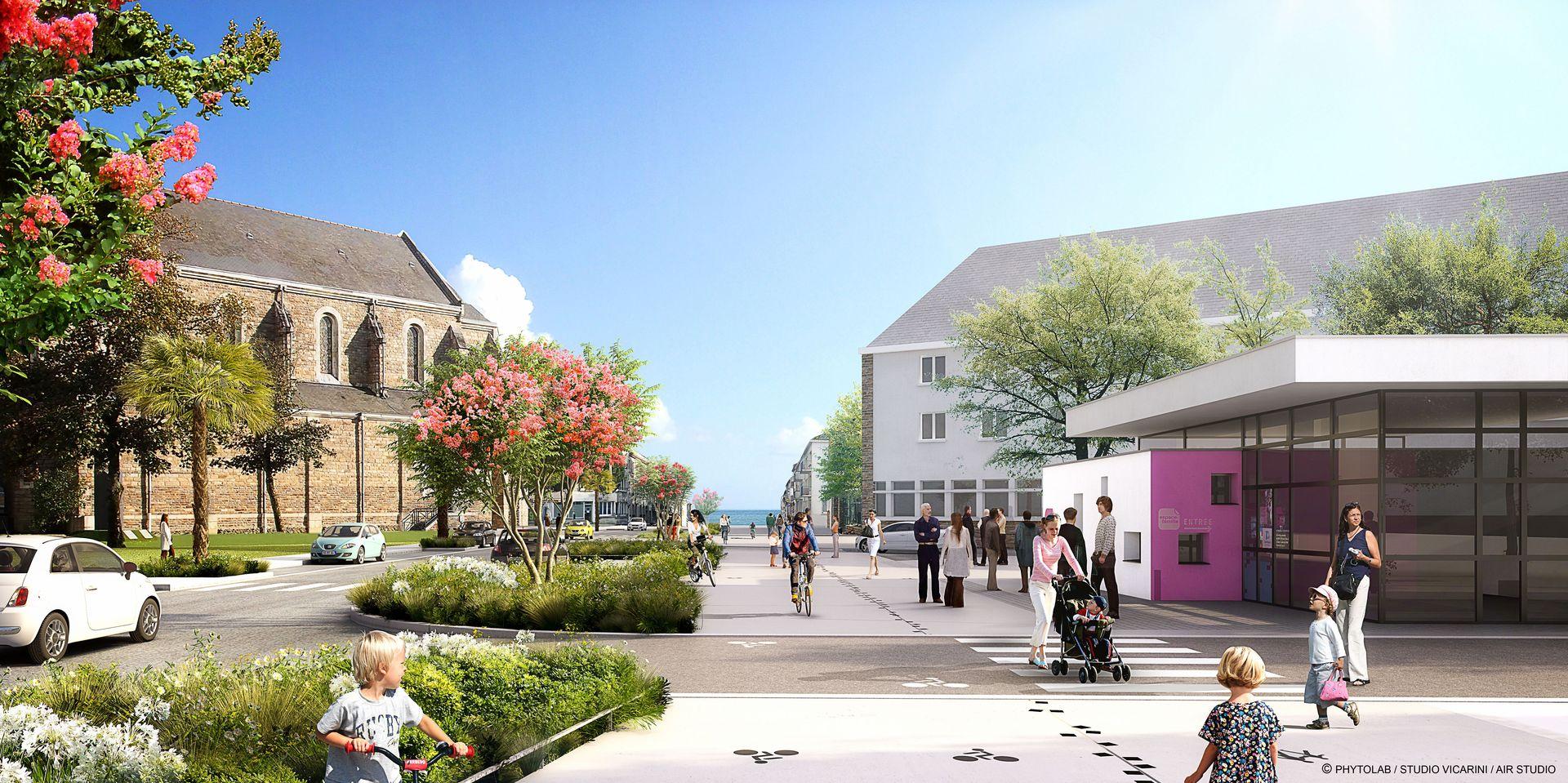 Avenue Léon Blum de Saint-Nazaire ©Phytolab-Topos-AirStudio