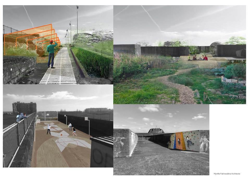 Vues d'artiste du futur toit de la base. Crédit : Myrtille Fakhreddine Architecte