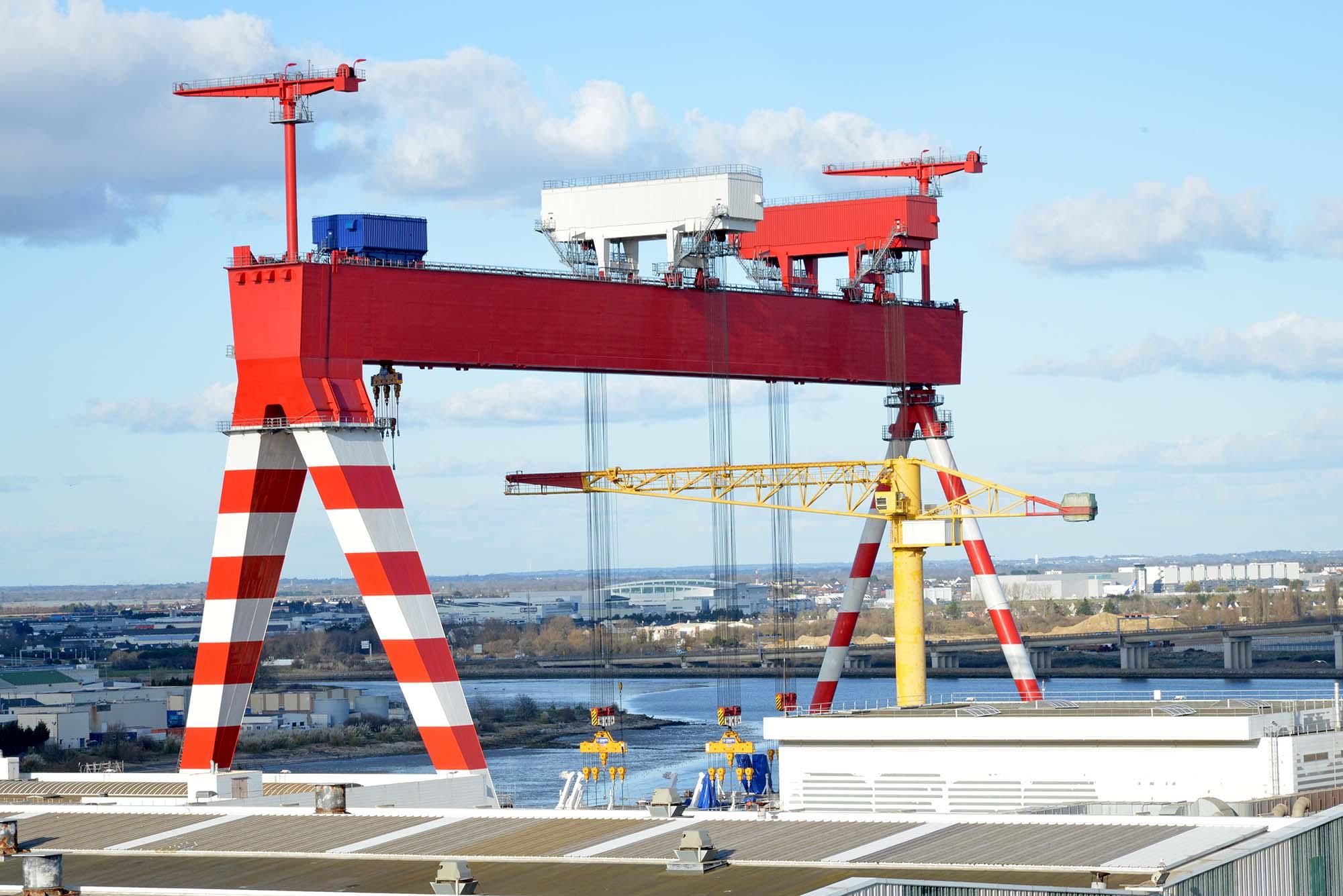 Portique des chantiers navals STX © Ville de Saint-Nazaire