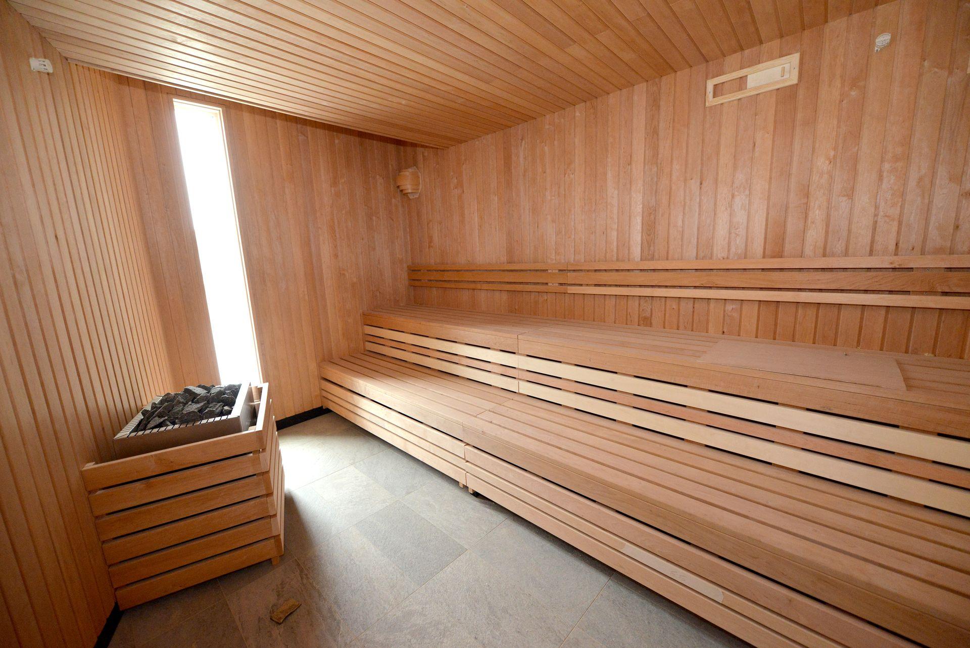 Sauna de l'Aquaparc de Saint-Nazaire. Crédit : Ville de Saint-Nazaire